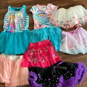 Other - Little girl dresses skirts fits size 6 to 8